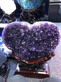 Amethyst Crystal (特AUruguay 心形紫水晶)
