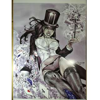 DC Comics Zatanna Copic Art Print 11x17