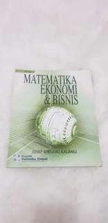 MATEMATIKA EKONOMI & BISNIS By Josep Bintang Kalangi