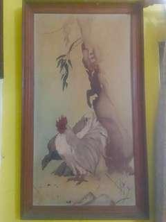 Lukisan Kuno Ayam