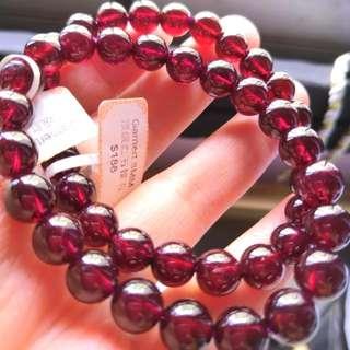 High quality garnet bracelet