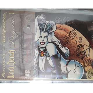Limited Edition LadyDeath Lingerie #1 signed copy with Cert of Authenticity