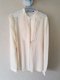Long Sleeve Cream Blouse