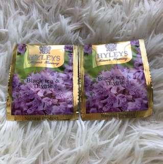 🔴(2pcs)Hyleys - Black Tea & Thyme Teabags