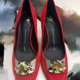 Vero Cuoio heels 9成新 水晶紅色高跟鞋👠