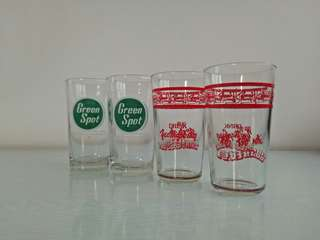 70s drinking glass height 12-13cm mint condition unused 4pcs $15