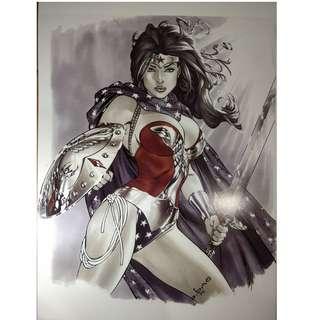 DC Comics Wonder Woman Copic Art Print 11x17