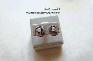 Sterling Silver Earrings 92.5% Size 1.20cm