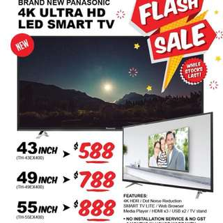 Brand new Panasonic 4K Ultra HD LED Smart TV
