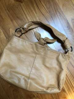 Lowe real leather Beige bag