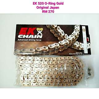 EK 520 O-Ring Gold Made In Japan
