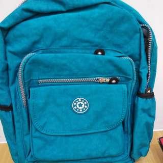 尼龍 水藍 後背包