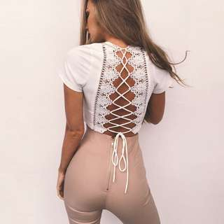 Ayla Laced Back Crop Top