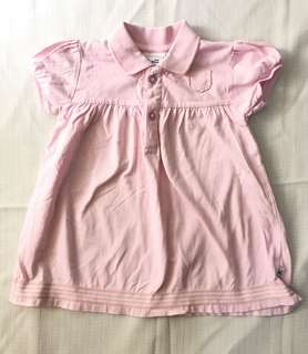 Charity Sale! Authentic Just Hatched Size 2 Baby Pink Polo T-shirt Top Cotton