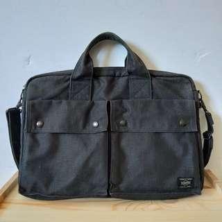 🚚 日本吉田 Porter Smoky 公事包 側背包 手提包 592-06363 黑色 日製正品