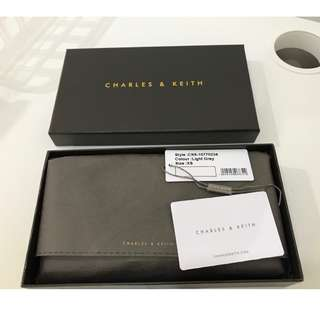 Charles & Keith Wallet (Grey) on Sale (Original)