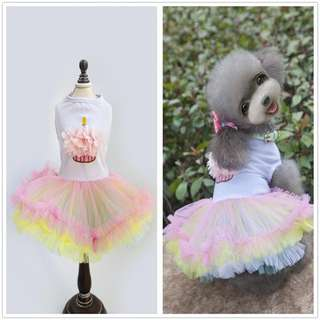 CUPCAKE TULLE DRESS FOR PETS