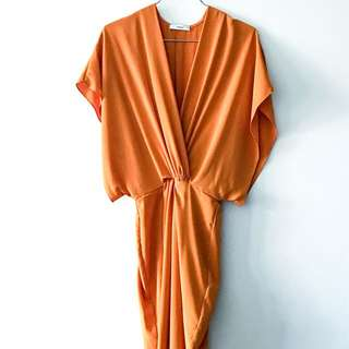 Sheike Orange Harmony MIDI Dress