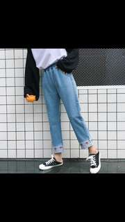 (PO) embroidery ulzzang jeans