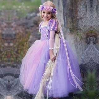 Elegant Princess Repunzel Pretty Long Dress