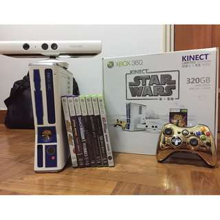 Star Wars Edition Xbox360 Kinect set with Games (collectors)
