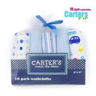 Carter's 10pc Wash Cloth - BLUE