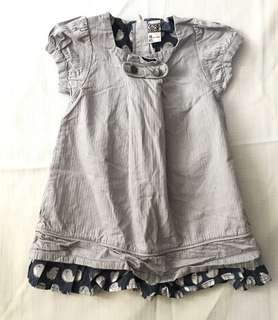Charity Sale! Authentic Tape a a Loeil Pleeted Linear Patterned Baby Girl Dress size 18 months