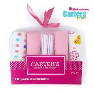 Carter's Watch the Wear 10pc Wash Cloth - PINK