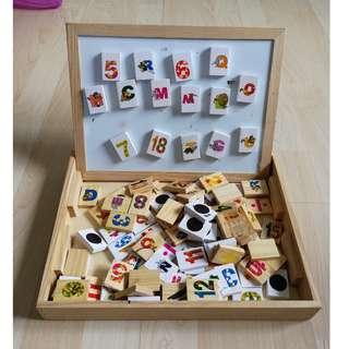 #Bajet20 *P* Kids Number & Alphabet Magnet Board