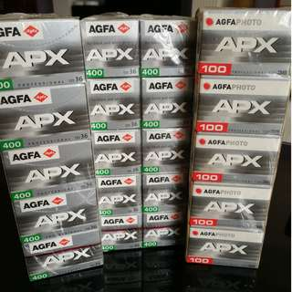 AGFA APX100 & 400 expired film for sale!!