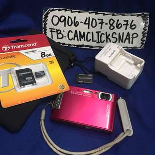Sony DSC T200 touch screen 8megapixels 5x zoom with accesories