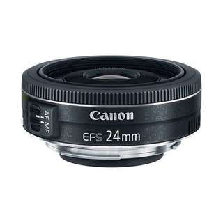 Canon 24mm f2.8 STM EF-S Lens NEW