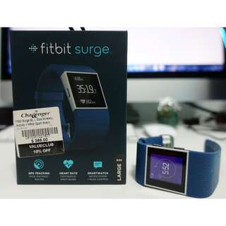 Selling Fitbit Surge Blue for $190 (no warranty) very good condition