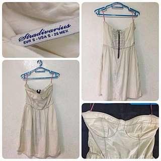 STRADIVARIUS Light Denim Tube Dress