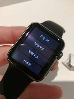 Apple watch Ser.1 42mm black 連充電線