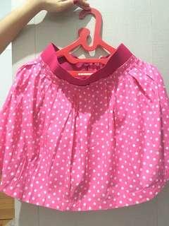 Polkadot Pink Skirt