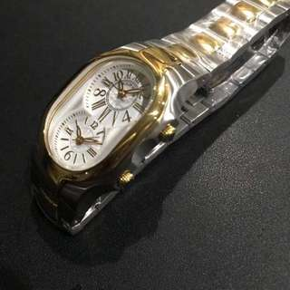 Authentic Philip Stein Two tone gold steel Small