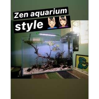 """Aquascape Concept - """"Zen Feature Style"""""""