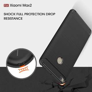 TPU Shockproof Lined Case for Xiaomi Mi Max 2  (Black)