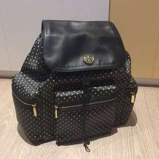 【九成新】Tory Burch Kerrington Backpack (black) / Tory Burch後背包(黑)
