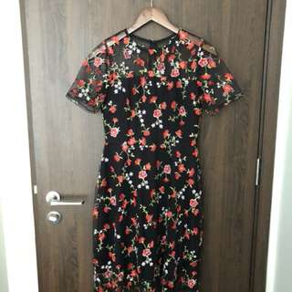 Dorothy Perkins Embroidery Floral Dress / Gown