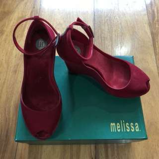Authentic Pre-owned Melissa Patchuli II SP AD Red Flocked
