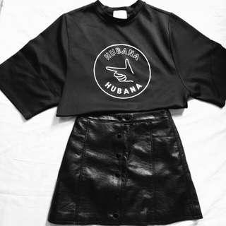 Korean Boxy Fit Crop T-shirt