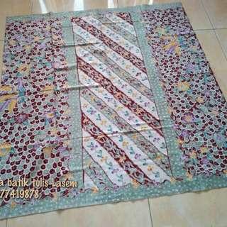 Batik Tulis Lasem Sarung Gunung Ringgit Hijau Muda