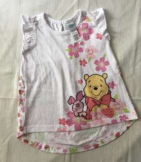 Charity Sale! Authentic Disney Baby Winnie the Pooh White T-shirt Size 18-24 Months