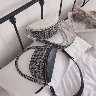 Po: Elegant tweed fanny pack