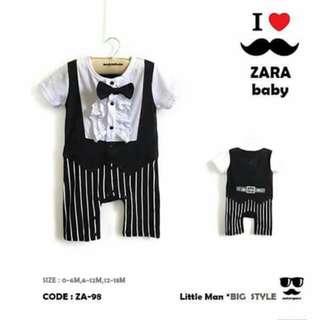 Zara Gentleman Baby Romper - ZA98