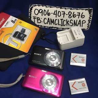 Sony DSC W310  12.1megapixels 4x zoom with accesories