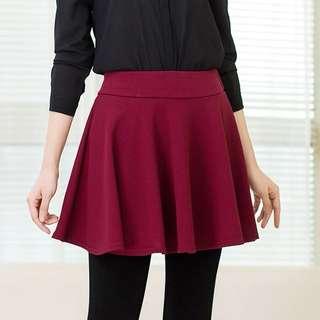 Maroon HW Skirt