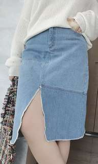 <Plus Size PO> Denim Skirt